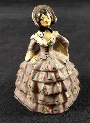 Vintage Cast Iron Colonial Lady National Foundry