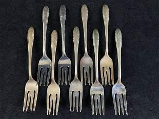 """Vintage 1940's Gorham Sterling Silver """" Lyric"""" Forks"""