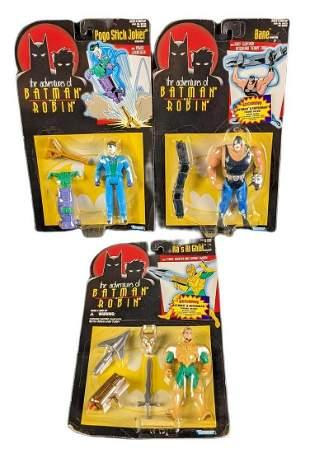 Batman & Robin Kenner Action Figures Bane Joker & Ra Al
