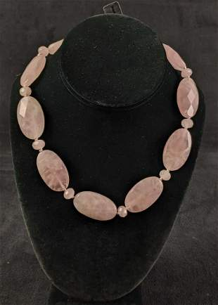Gemstone Rose Quartz Ralph Lauren Necklace New