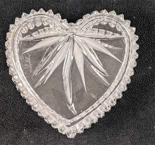 Retired Wedgewood Crystal Heart Jewerly Box