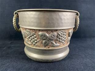 Vintage Silver Plated Grape Vine Ice Bucket