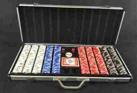 Piece Poker Chips Set And Aluminum Case