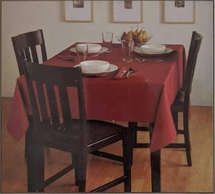 Basketweave Rust 60x84 Inch Oblong Tablecloth B