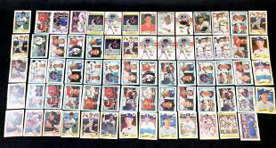 Lot of 69 Fleer Baseball Cards