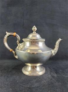Antique Sterling by Poole 1027 Georgian Tea Pot