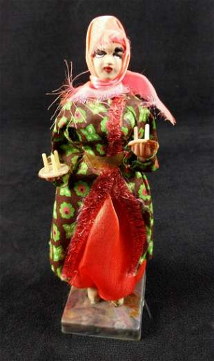 Vintage Hand Made Souvenir Doll With Candles
