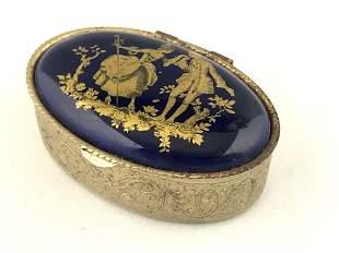 Vintage Pill / Trinket Blue Cobalt Ceramic Tile