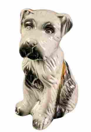 Vintage Ceramic Brazilian Terrier Dog Figurine