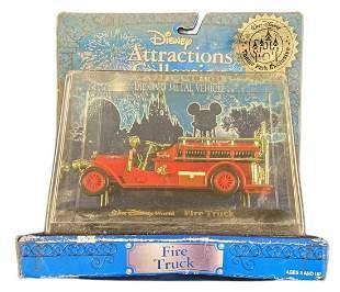 Disney World Die Cast Metal Fire Truck