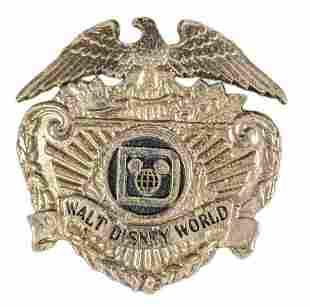 Vintage 1970s Walt Disney World Security Badge