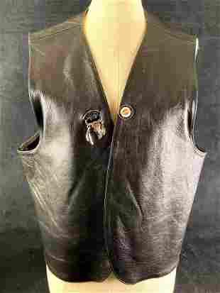 Leather Men Black Leather Jacket Size XL Daytona Beach,