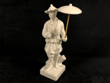Vintage 1976 Fritz & Floyd White Porcelain Chinese Man