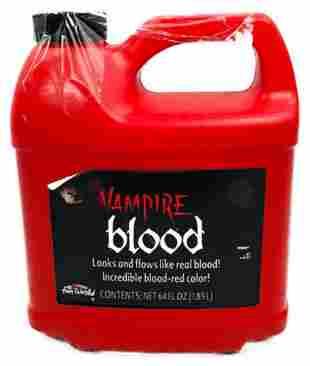 Halloween Decor, Bottle of Vampire Blood, 64 Oz, NOS