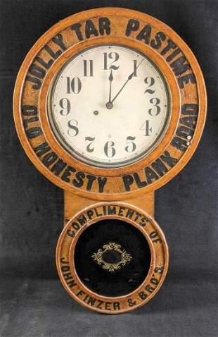 Vintage Working Baird Tobacco Advertising Clock