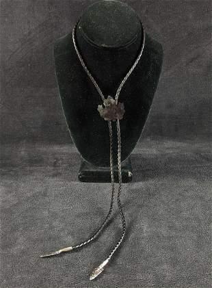 Leather Bolo Tie Native American Style Designs