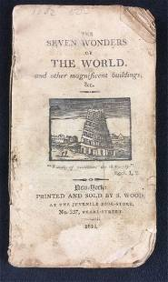 The Seven Wonders Of The World Antique Publication