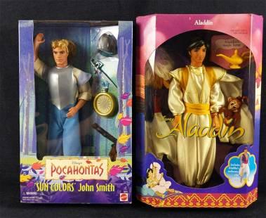 Disney Pocahontas John Smith And Aladdin Dolls