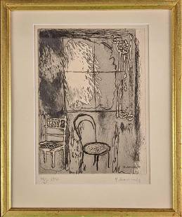 Yuri (Georges) Annenkov LE Signed Chairs Print