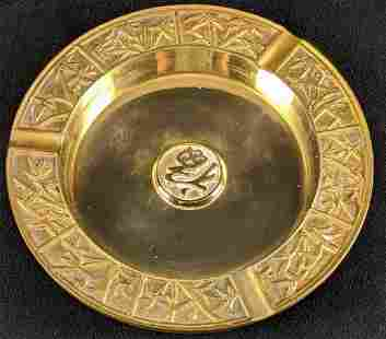 Solid Brass Ash Tray with Patina