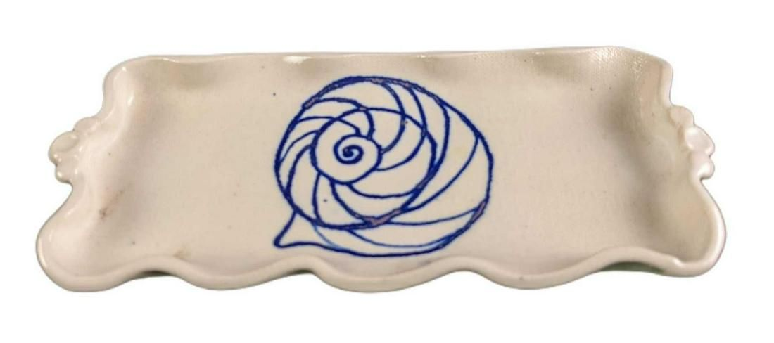 Hand Made Hand Painted Ceramic Snail Soap Dish