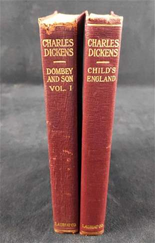 Two Vintage Charles Dickens Novels Childs England
