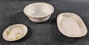 Vintage Fine Stone China Bowls Plates Lot Of Three