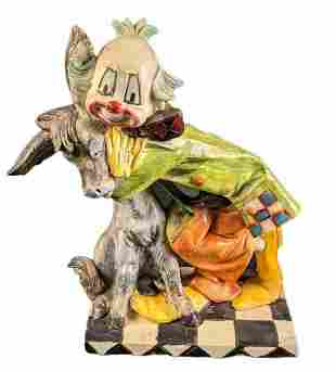 House Of Zog Clown with Donkey Figurine