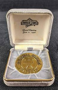 Universal Studios Fla Grand Opening Earthquake Coin