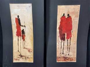 Original Maasai Shuka African Paintings