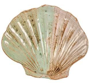 Vintage Ceramic Scallop Shell Soap Dish