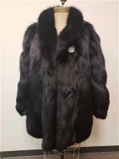 Black Dyed Fox Fur Coat