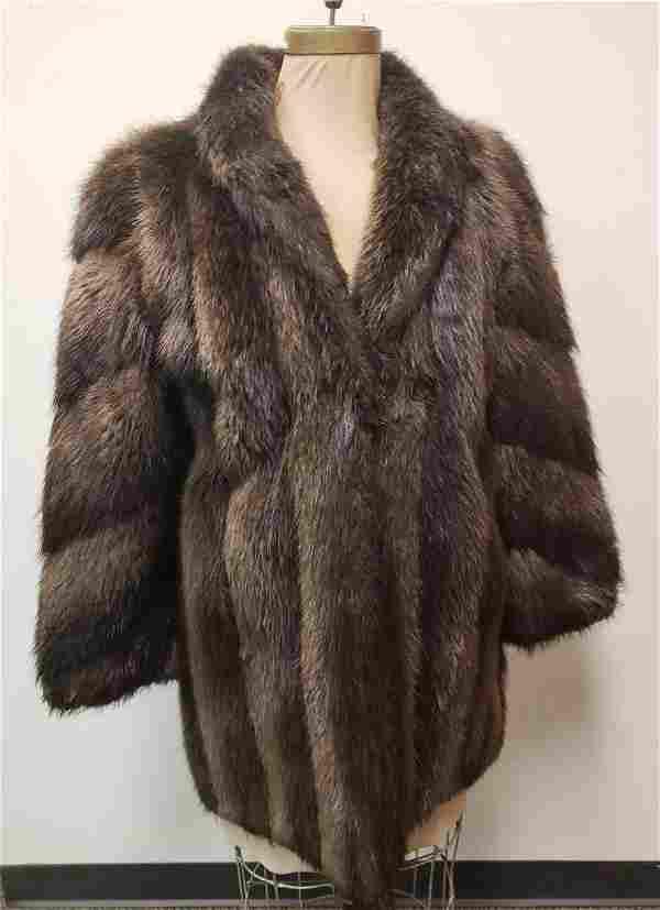 Evans Furs At Lazarus Beaver Fur Coat