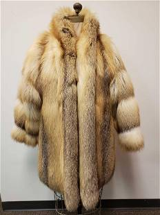 Saga Fox Red Fox Fur Coat