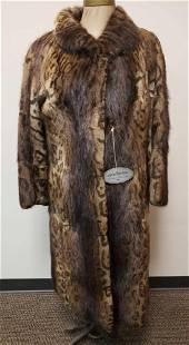 Cheetah Print Dyed Beaver Fur Coat
