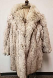 Efurs4less Arctic Marble Fox Fur Coat