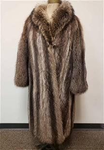 Diefranch Pellicceria Raccoon Fur Coat