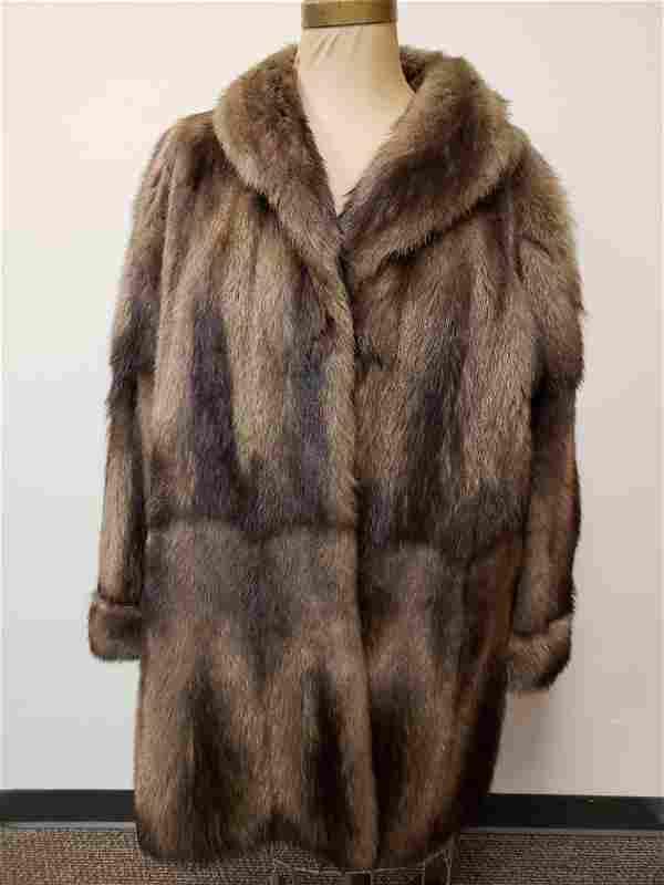 Pelzhaus Trier Miller Denig Nutria Mid Length Fur Coat