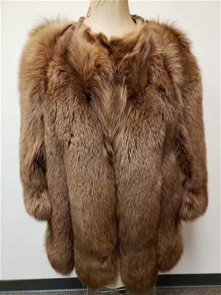 Dyed Brown Fox Fur Coat