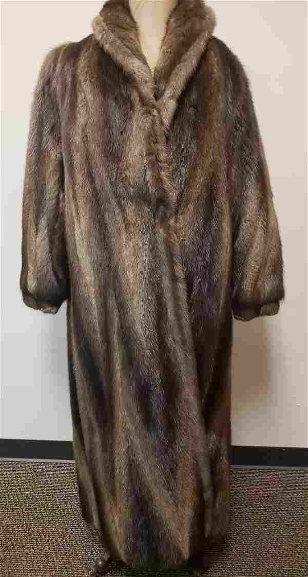Full Length Nutria Fur Coat