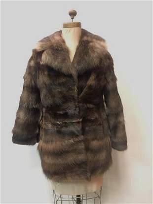 Vintage Muskrat Fur Jacket