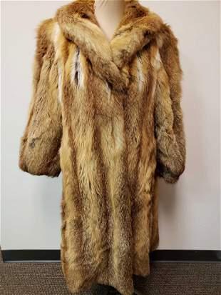 Full Length Red Fox Fur Coat