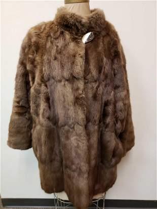 Pelzhaus Springer Mid Length Rabbit Fur Coat