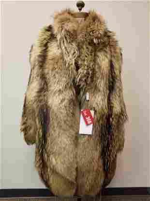 Tanuki Fur Coat by Re Madeinitaly Furs Pelliccoria