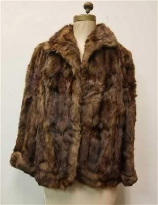 Brown Rabbit Fur Coat by Arnold Constable Fifth Avenue