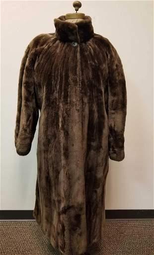 Full Length Sheared Lamb Fur Coat