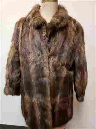 Nutria Mid Length Fur Coat