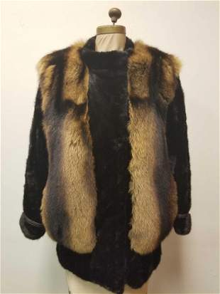 Unique Fox and Sable Coat by A.C Bang