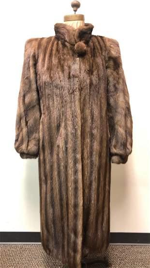 Mink Fur Coat Full Length Autumn Haze Pavlis