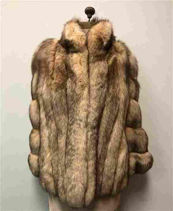 Nordstrom Blush Fox Sterling Fur Jacket